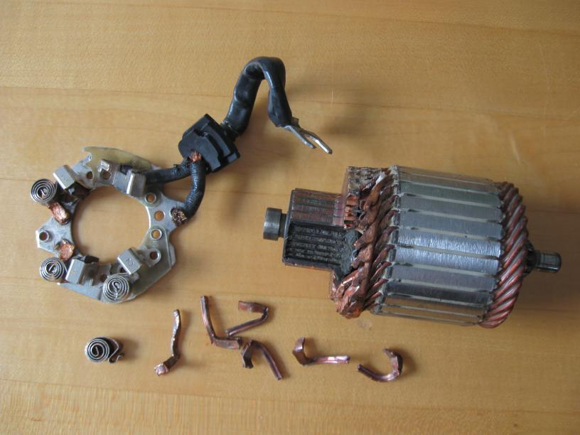Broken starter bits photo